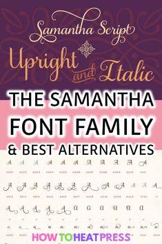 The Samantha Font Family & Best Alternatives