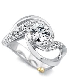 Contemporary Swirl | Sparkling Engagement Ring