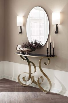 Fabulous console table by Cantori, Italy- different finishing available