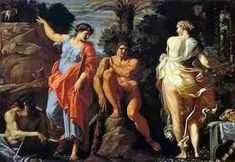 """""""Hercule la încrucișare de drumuri"""", cunoscută și ca """"Alegerea lui Hercule"""" sau """"Judecata lui Hercule"""", este o... Caravaggio, Michelangelo, Baroque Painting, Baroque Art, Sebastian Bach, Art Du Temps, Annibale Carracci, Mythology Paintings, Greek And Roman Mythology"""