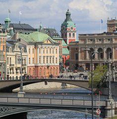 View from Riddarholmen, Stockholm.