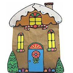 Paper bag house art project