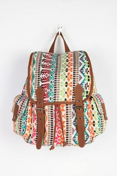 Urban Outfitters Ecote Patterned Collage Backpack -- Remaining hands-free during the festival is a must, and a backpack makes for some no-fuss dance moves. via StyleList.