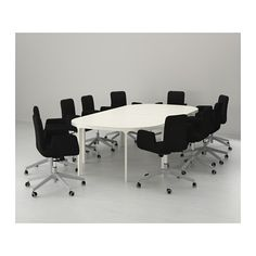 Conference Room Table for Project Management x2 BEKANT Conference table - white - IKEA