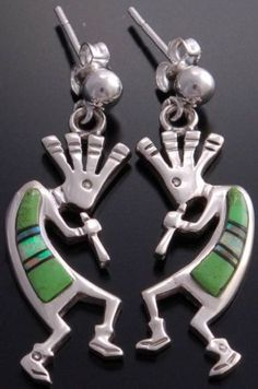 $88 Take a look at this week's product of the week! The Fantastic Multistone Kokopelli Earrings by Rick Tolino.