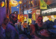 Jussi Pirttioja, Amsterdam, 30,5 x 42,5, Oil on canvas