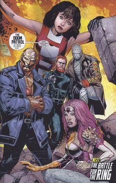 New 52's Doom Patrol (+ Element Woman), by Doug Mahnke