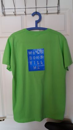 Next Large (L) Size Lime Green short sleeved T-shirt with a Blue Hivis  Reflective sticker affixed to the back. The Hivis Reflective sticker is  14cm x 18cm ... 86eb62341b98