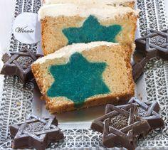 משהו מתוק: עוגת לבנה במילוי מגן דוד כחול