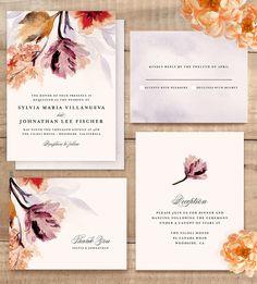Grecian Florals wedding invitation by Olivia Kanaley @minted