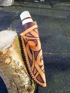 How to make a knife sheath with tribal Maori design
