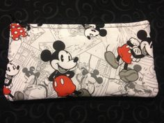 Mickey Mouse Pencil Case / Zipper Pouch by Hennesseys on Etsy, $4.50