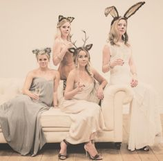 "Lauren Conrad and her BFFs dressed as pretty ""Party Animals"" for Halloween!"