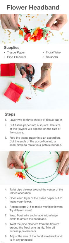 Fit for a princess! Create your own DIY Flower Headband, inspired by Princess Elena's flowers.