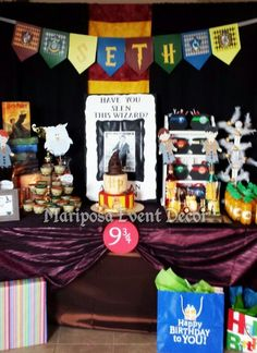 Seth's Wizard First Birthday inspired by Harry Potter | CatchMyParty.com