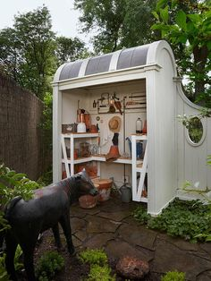 Easy Garden Shed repurposed ideas for your backyard outdoor space Potting Shed Designs Design No. Garden Tool Storage, Garden Tools, Garden Sheds, Garden Supplies, Shed Design, Garden Design, Landscape Design, Villa Design, Fence Design