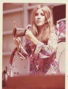 Stevie with the band Fritz
