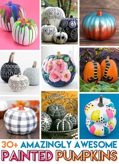 Painted pumpkins are