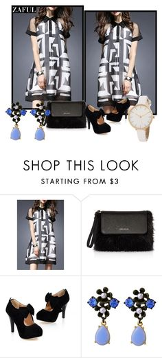 """""""Warn By Time But Faded With Love"""" by fshionme ❤ liked on Polyvore featuring Karen Millen"""