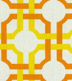 JoAnn Fabric, Waverly Modern Essentials Fabric-Groovy Grill/Citrus, #10725786, $11.99 per yard