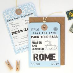 I've just found Luggage Tag Save The Date. Luggage tag save the date, perfect for your destination wedding!. £1.65