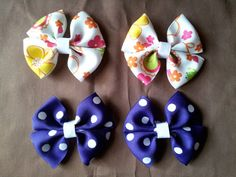 Butterfly Hair Bows with Non Slip Lined by JenvyAccessories, #HairBows #AhaTeam