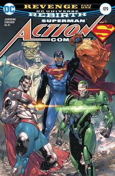 """DC COMICS (W) Dan Jurgens (A) Patrick Zircher (CA) Clay Mann """"REVENGE"""" part one! Superman, Lois and Jon return to their lives in Metropolis while Eradicator, Cyborg Superman, Metallo and Mongul unite to destroy the Man of Steel! RATED T Release Date 5/10/2017"""