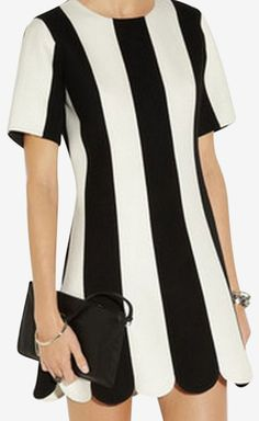 Marc Jacobs Black and White Dress