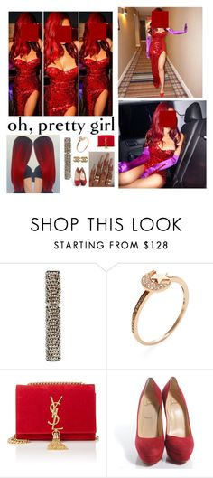 """""""// Costume Party 02//Jessica Rabbit//"""" by melaninmonroee ❤ liked on Polyvore featuring Shay, Floss Gloss, Yves Saint Laurent, Christian Louboutin and Chanel"""