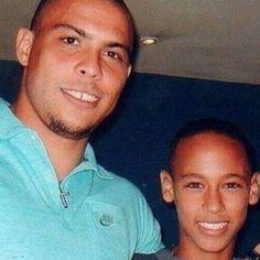 Old picture, Ronaldo and Neymar  Brazil nation football team