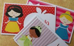 Tarjetas de presentacion de princesas