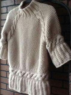 Knitting Stitches, Knitting Designs, Knitting Patterns Free, Knit Patterns, Baby Knitting, Knit Fashion, Sweater Fashion, Crochet Wool, Sweater Design
