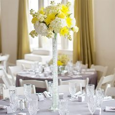 Tall Yellow Centerpiece, not necessarily yellow, but if something tall i want it to be thin like this