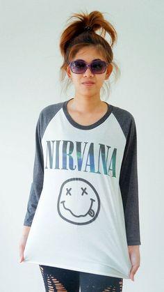 S,M,L -- GALAXY NIRVANA Shirts Alternative Rock Tee Shirts Jersey Tee Baseball Tee Raglan Tee Long Sleeve Unisex Shirts Women Shirts via  NEEEEEEEEEEEEEDDDDDDDDDDDD