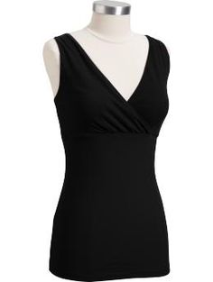 Maternity Cross-Front Jersey Nursing Camis - Never mind the hassles of nursing when youre wearing this comfy and discreet cami featuring soft jersey, an elasticized empire waist and adjustable straps.