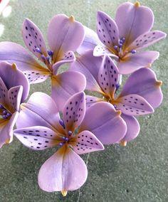 GumPaste Alstroemeria Flower Cake Decoration by SweetEdibles