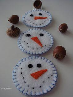 snowmen in felt