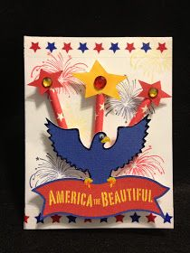 The Bugbytes: 4th of July Card with Washi tape and Paper straws