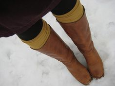 Boots with socks showing, co cute