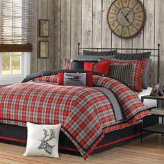Williamsport Plaid Comforter Set Full/Queen - BeddingSuperStore.com