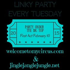 Please join us this Tuesday! We are so excited and can't wait to PARTY with you!  www.welcometomycircus.com www.jinglejanglejungle.net