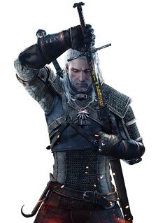 Geralt Drawing Sword