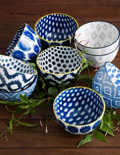 Ikat Bowls, $8 each from West Elm