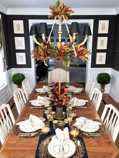 Decorating your table for Thanksgiving. Mix and match colors and textures for the perfect holiday look!