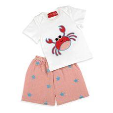 Mud Pie™ Crab Embroidered Striped Sun Hat
