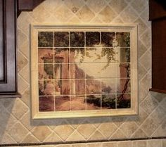 amalfi coastline kitchen backsplash tile mural. beautiful ideas. Home Design Ideas