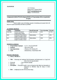best resume format doc resume computer science engineering cv best resume for freshers engineers - Computer Science Resume Iit