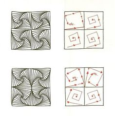 // Paradox, a Tutorial~Zentangles. This is a link to tons of variations of Paradox!