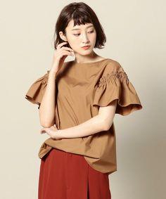ベージュ Korea Fashion, Japan Fashion, Fashion 2018, Girl Fashion, Fashion Outfits, Womens Fashion, Design Your Own Clothes, Shabby Look, Blouse Models