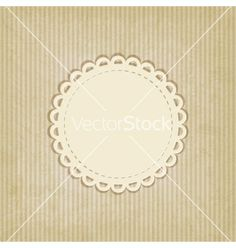 Retro striped background doily lace vector by natbasil on VectorStock®